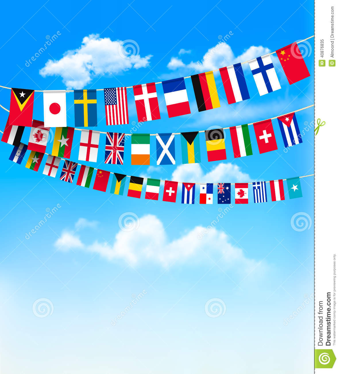 Vector Set Of World Flags Free Download