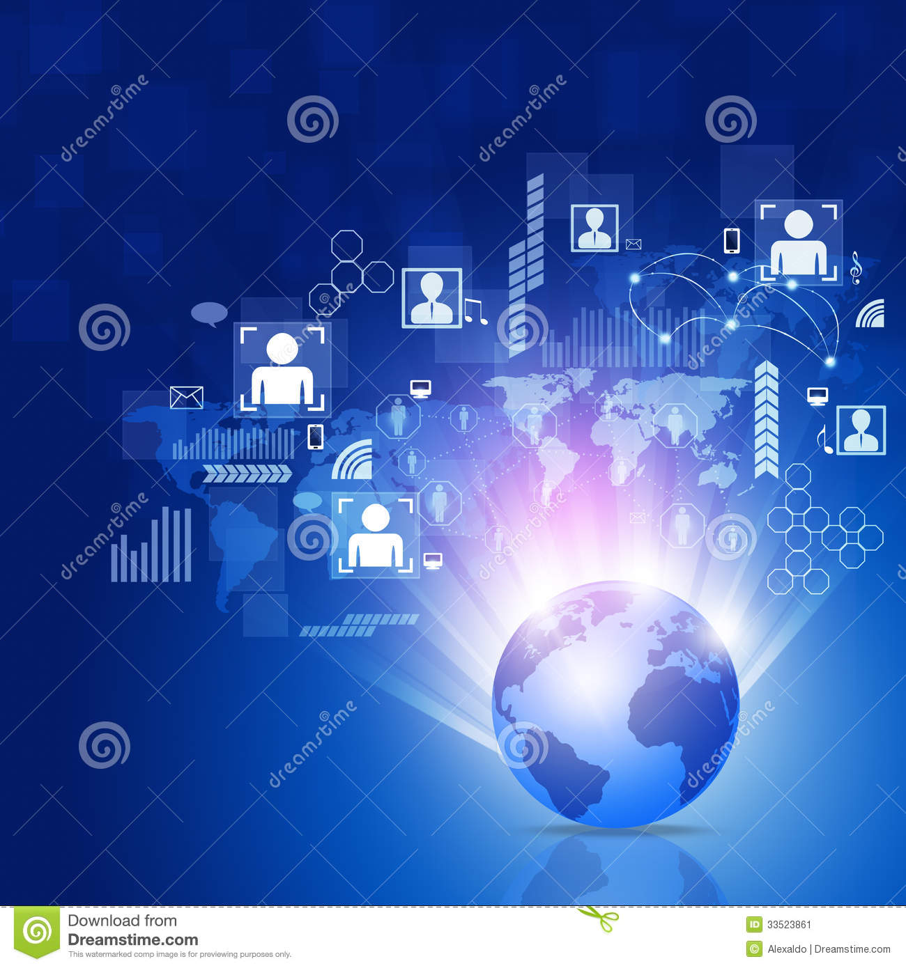 Trade In Cell Phone >> World Business Network Background Stock Image - Image ...