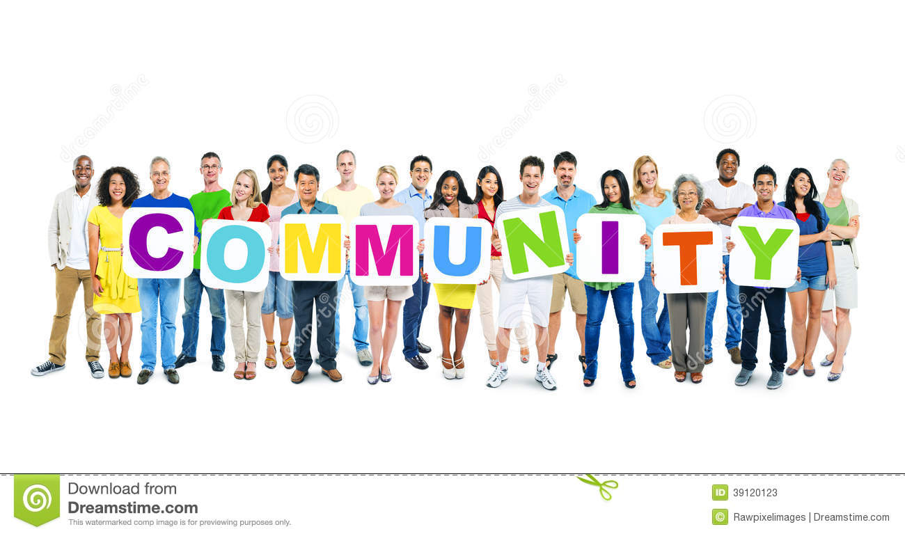 ... Business People Holding Word Community Stock Photo - Image: 39120123