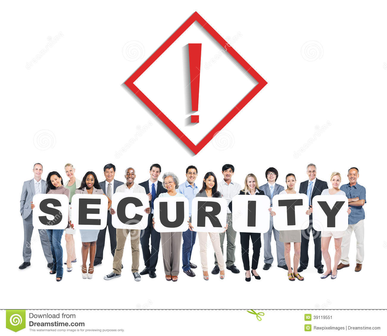World Business People Holding Word Security