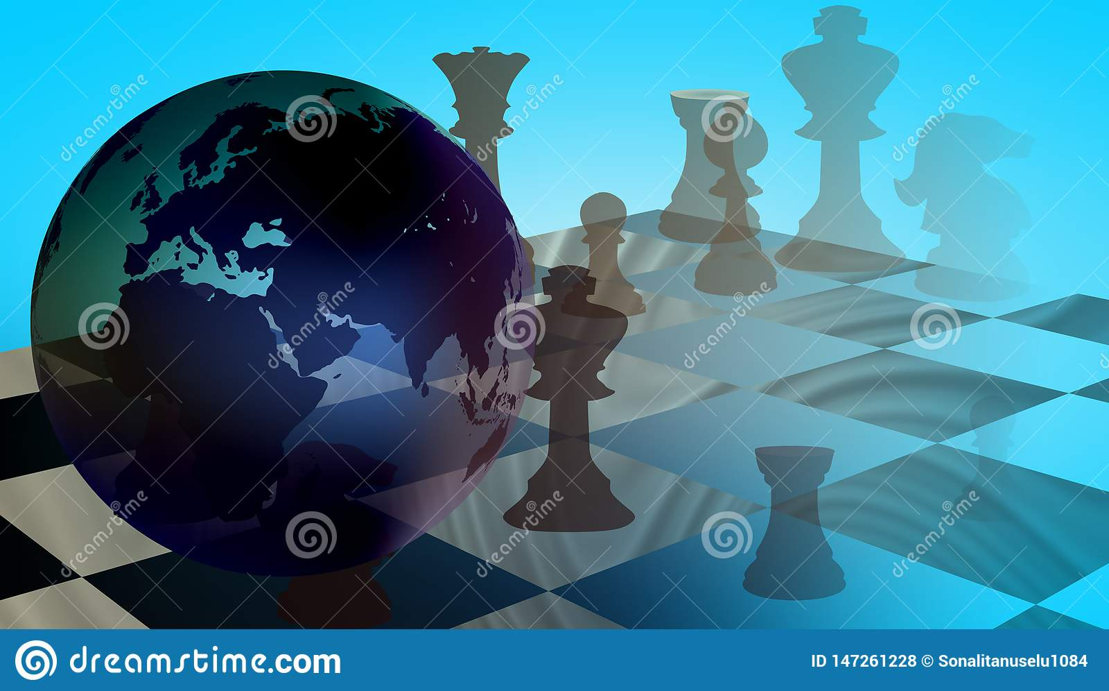 World Business Trade Strategy Chess.
