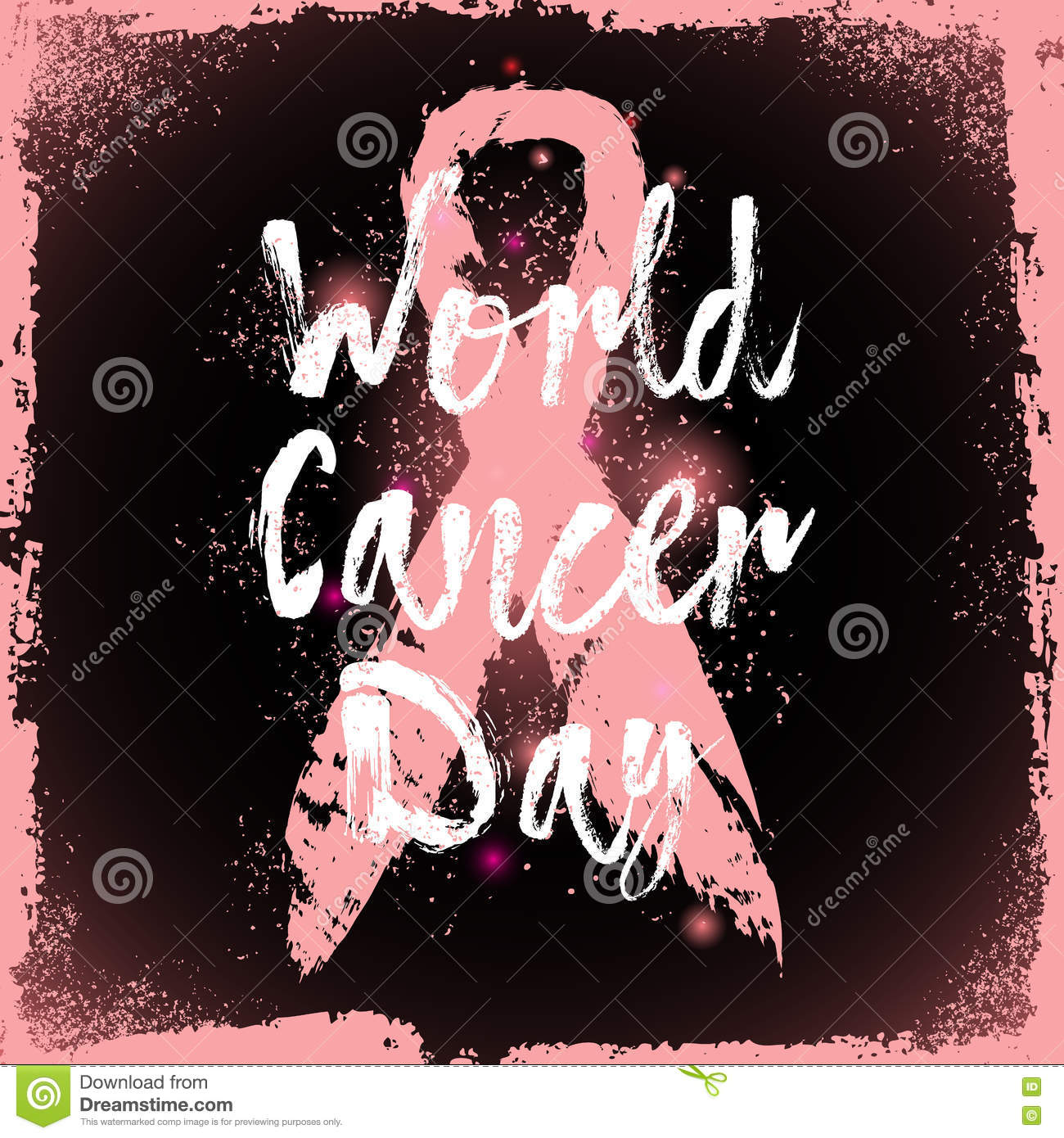 Cancer Sign Quotes World Cancer Daysign Quote About Breast Cancer Awareness Stock