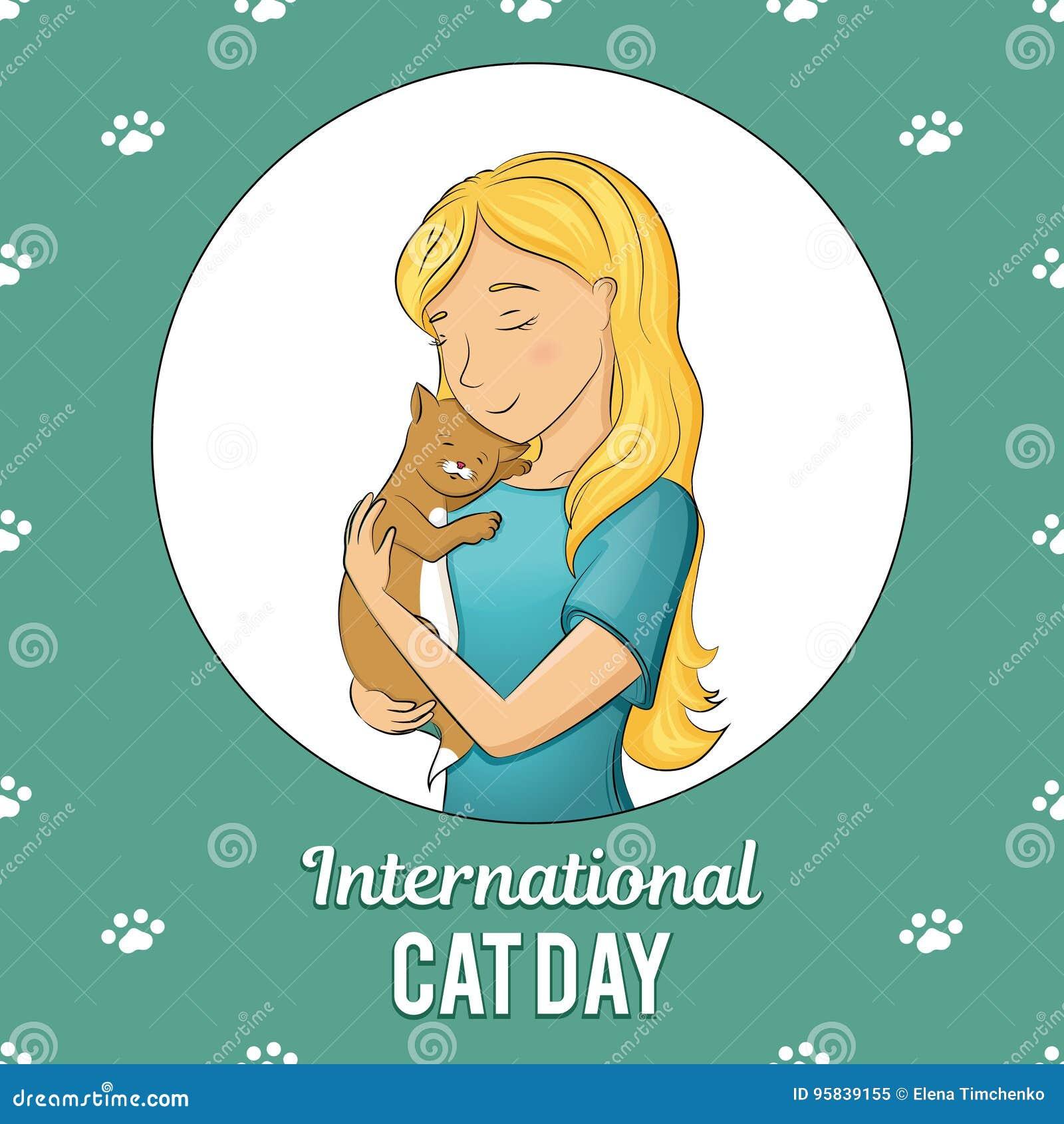 Cat Day International Stock Illustrations 888 Cat Day International Stock Illustrations Vectors Clipart Dreamstime