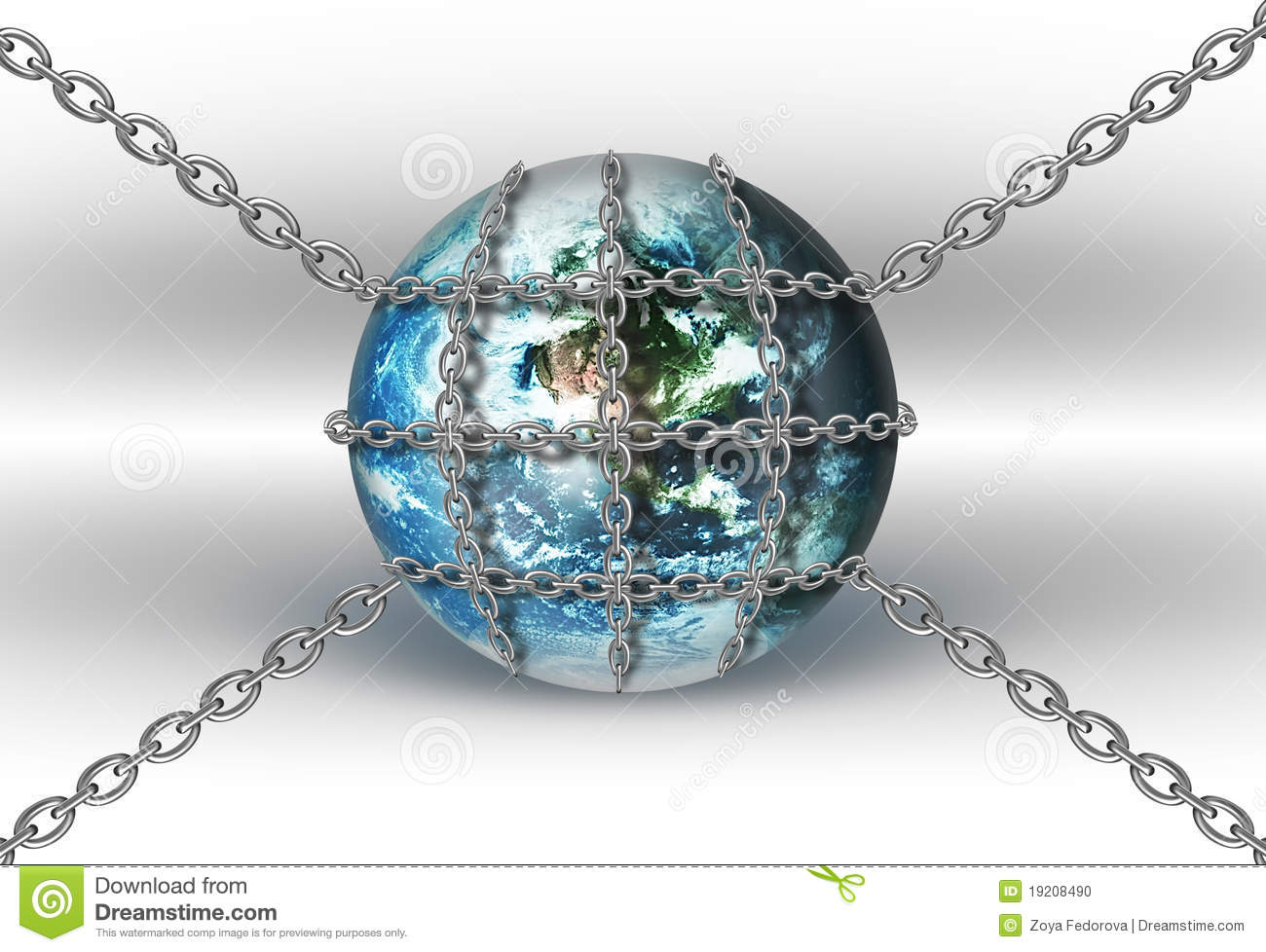 World In Chains Stock Illustration Image Of Bound Lock