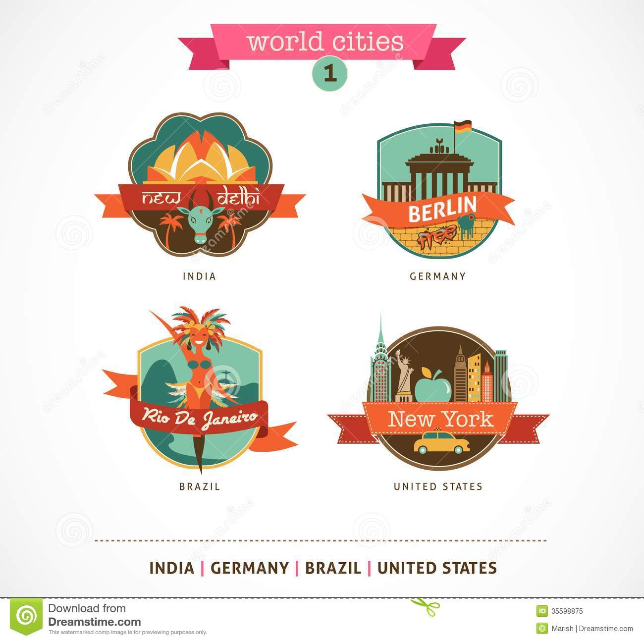 World cities labels delhi berlin rio new york stock vector royalty free stock photo buycottarizona Image collections