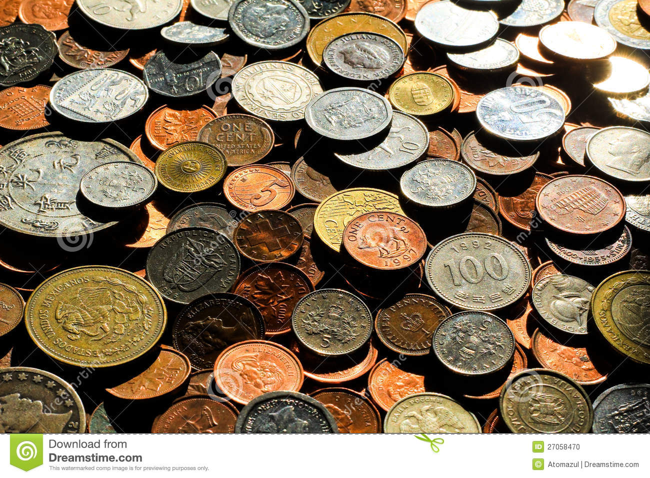 world coins 4 stock photo image 27058470