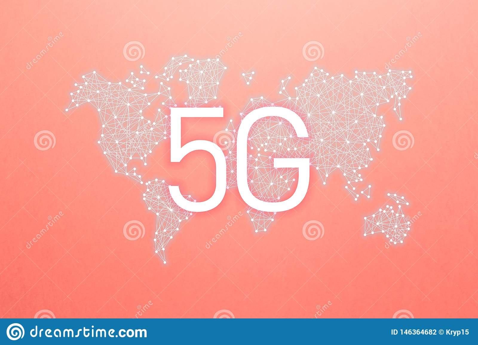 World community and network. 5G network Internet mobile wireless business concept