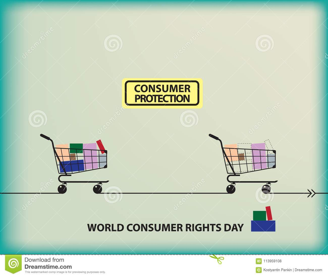 World Consumer Rights Day Stock Vector Illustration Of Holiday