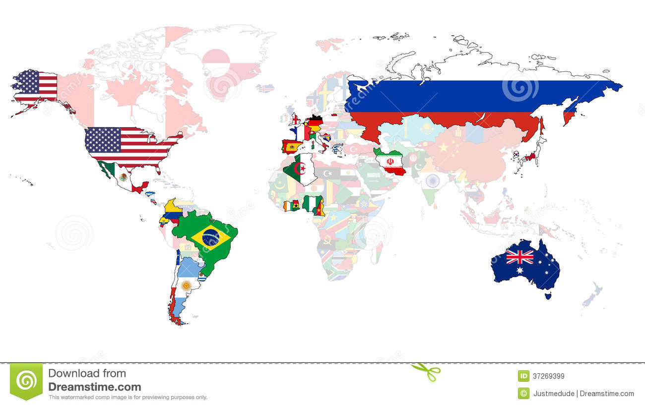 2014 World Cup Flag Map Royalty Free Stock Images Image 37269399