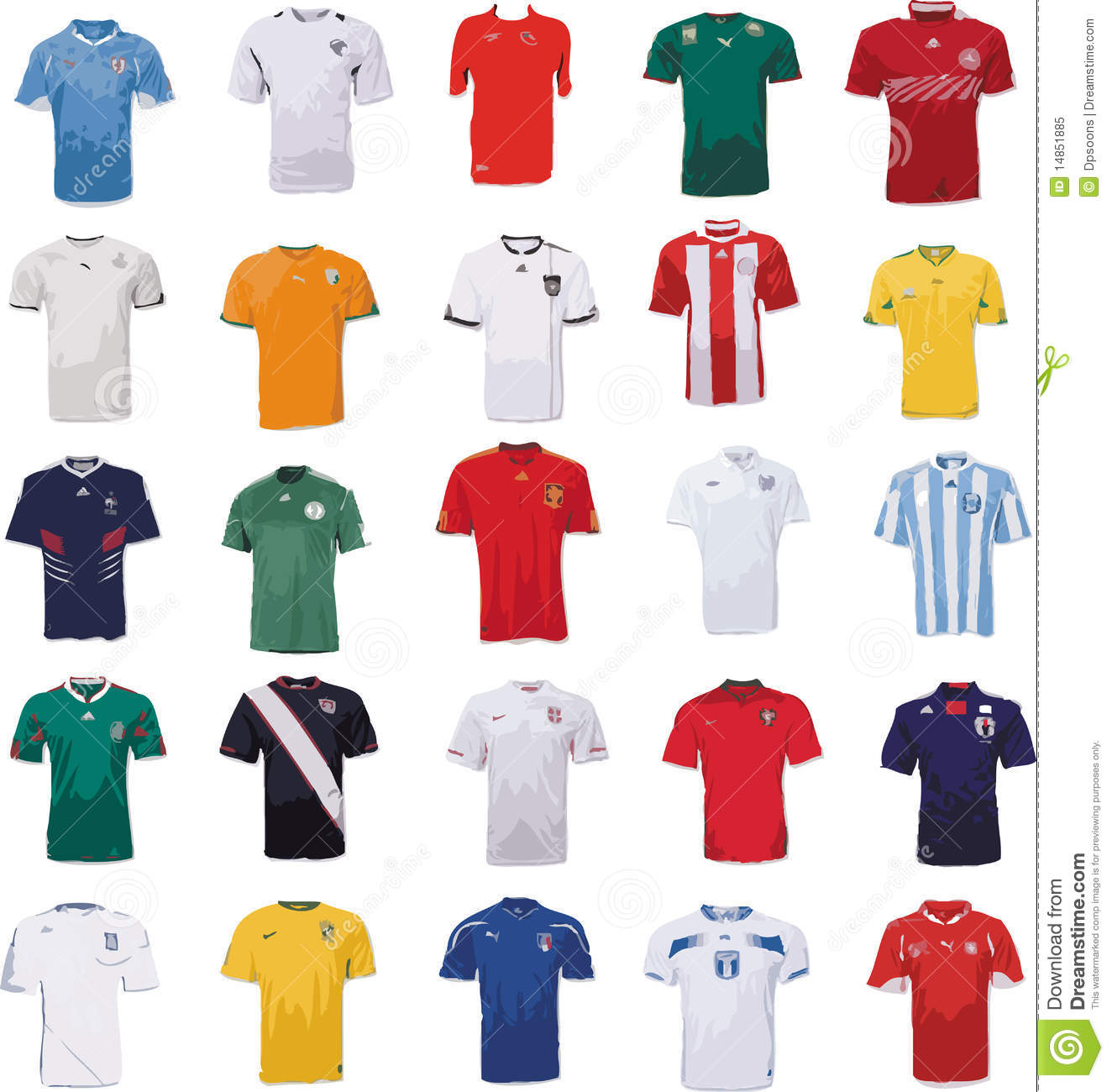 World Cup Football Jersey Royalty Free Stock Photo Image