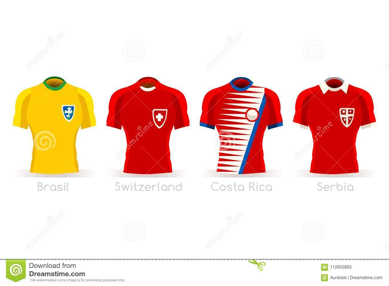 23ddacd7681 Soccer world cup a group of players with team shirts flags and ball.  referee football vector illustration. More similar stock illustrations