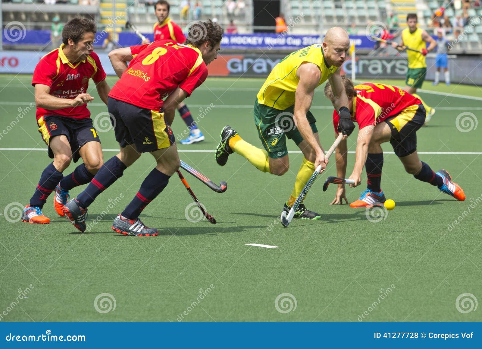 World Cup Hockey: Australia Vs Spain Editorial Stock Photo