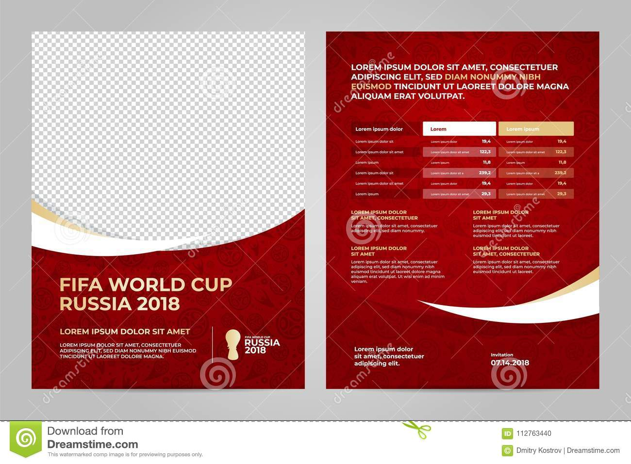 Russia 2018 cup template editorial image illustration of football set layout template design maxwellsz