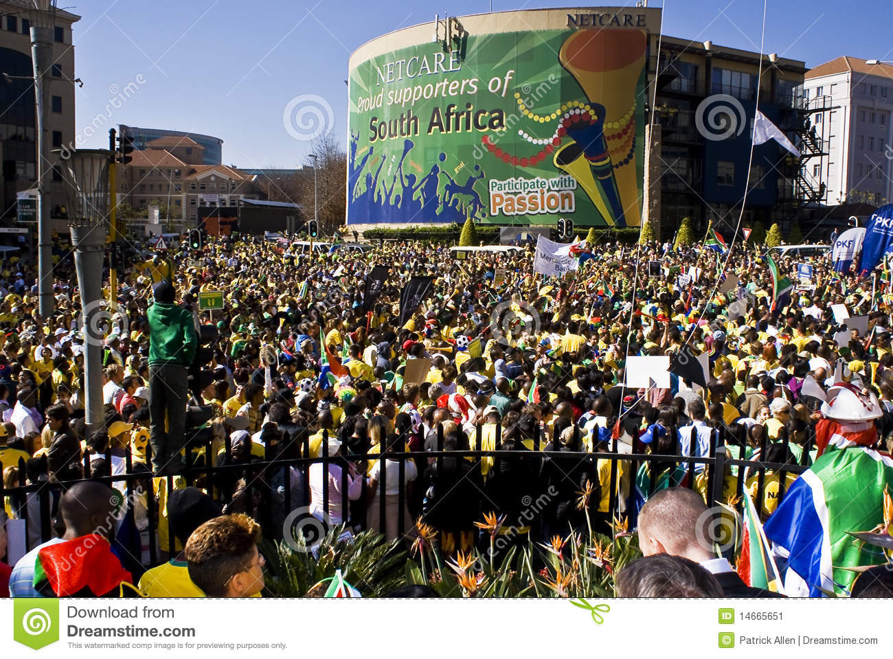 World Cup Soccer Fever Grips Sandton