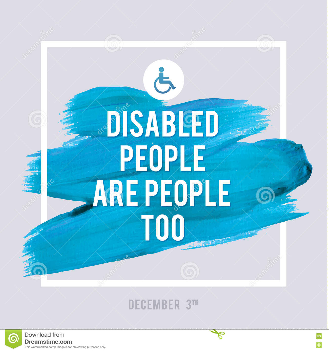 Poster design medical - World Disability Day Typography Watercolor Brush Stroke Design Vector Illustration Grunge Effect Important Poster