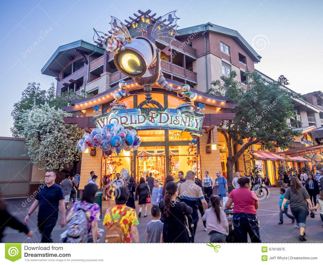 World Of Disney Store At Downtown Disney Editorial Image