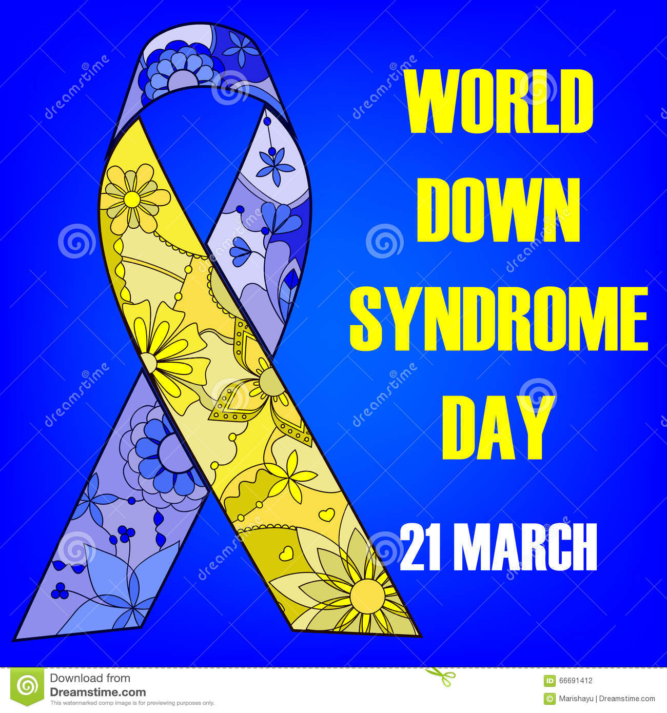 World Down Syndrome Day Background Stock Vector