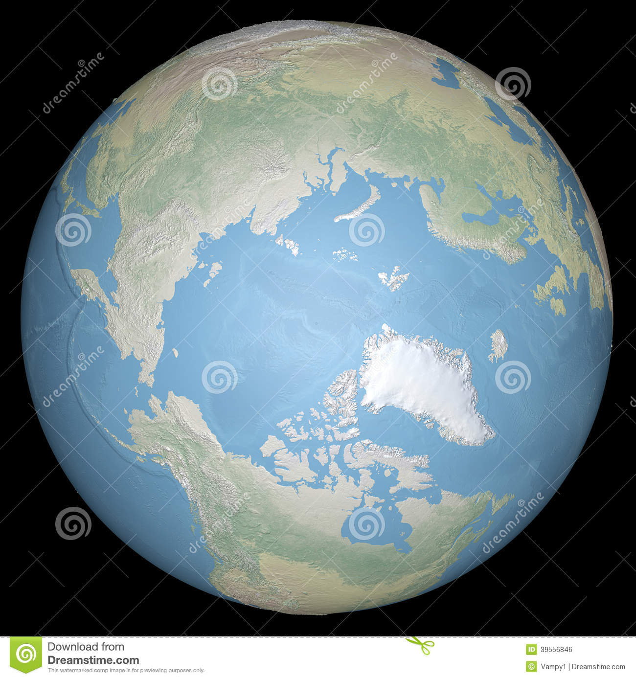 World earth globe arctic north pole relief map stock world earth globe arctic north pole relief map gumiabroncs Gallery
