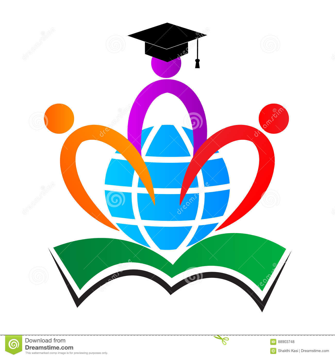 Education logo stock vector. Illustration of drawing ...