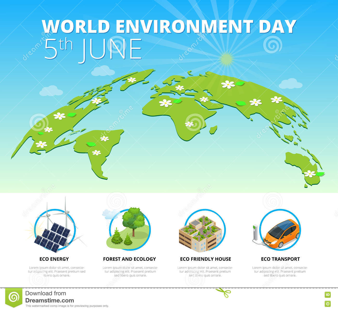 Nature Ecology: World Environment Day Concept. Saving Nature And Ecology