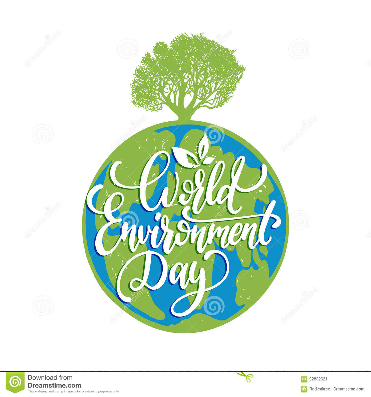 World environment day hand lettering for cards posters
