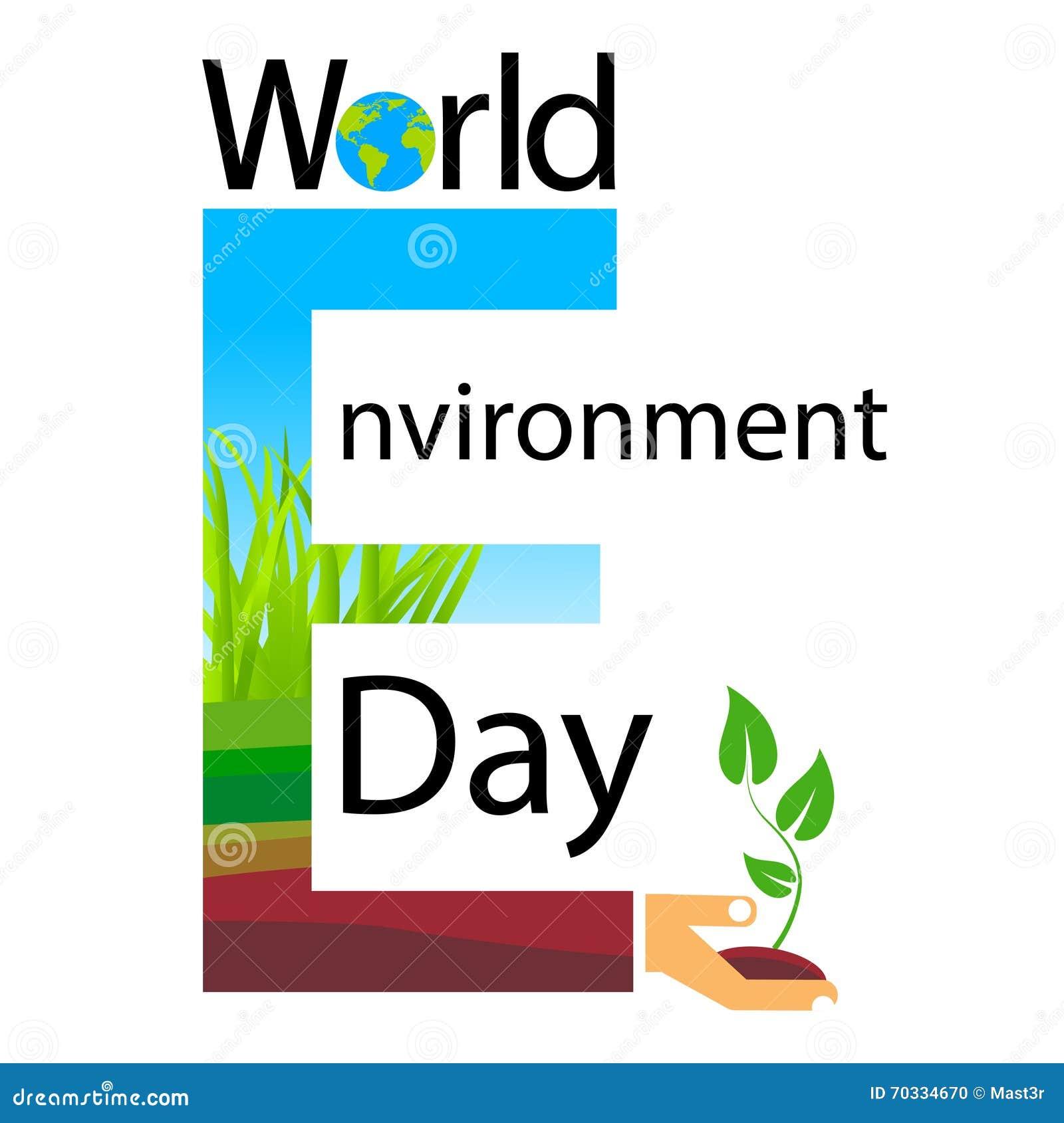 World Environment Day Text Banner Logo