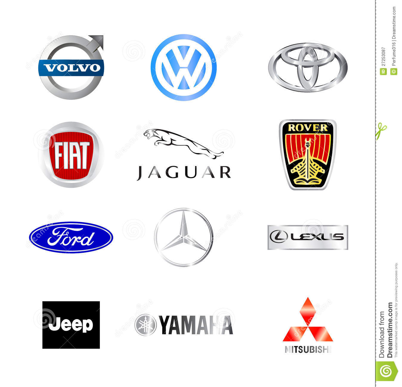 World Famous Car Brands Editorial Photography Image