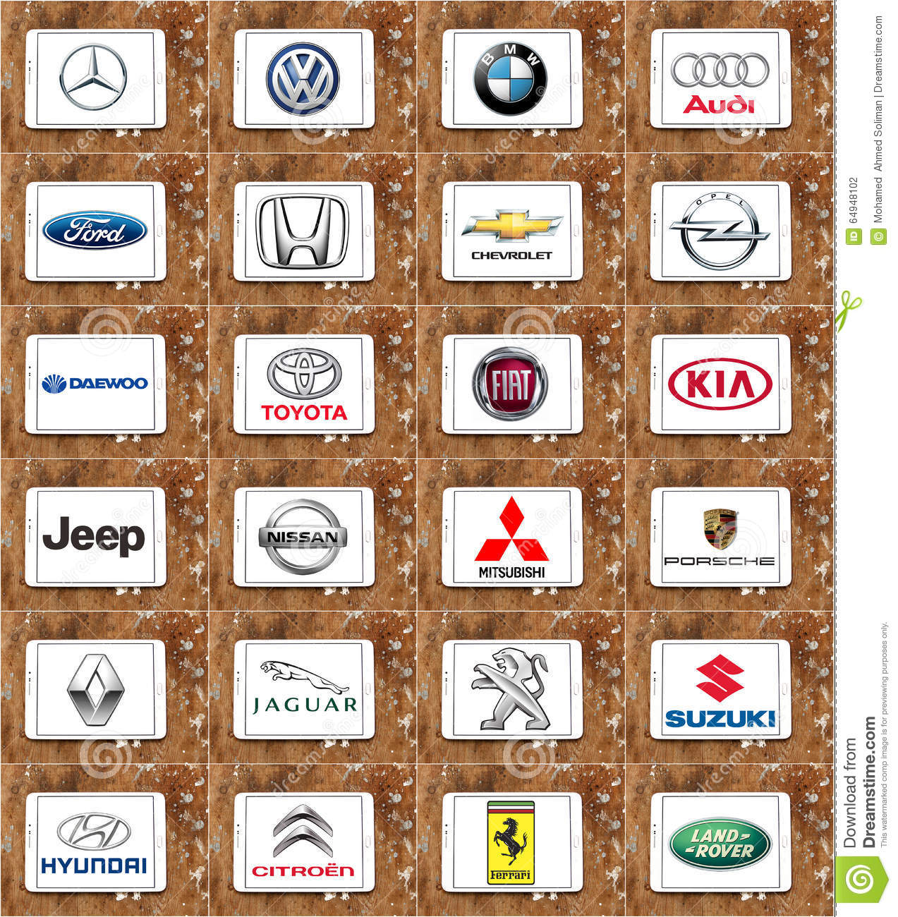 World Famous Car Brands Editorial Photography Illustration Of