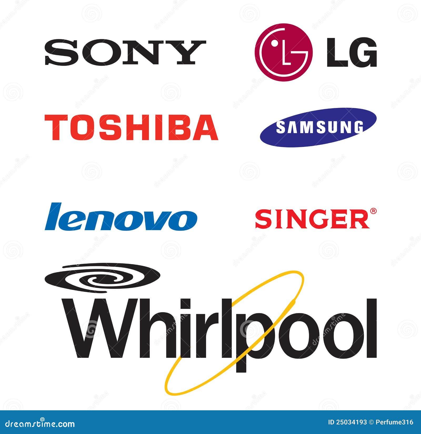 World Famous Electronic Brand Logos Editorial Stock Photo