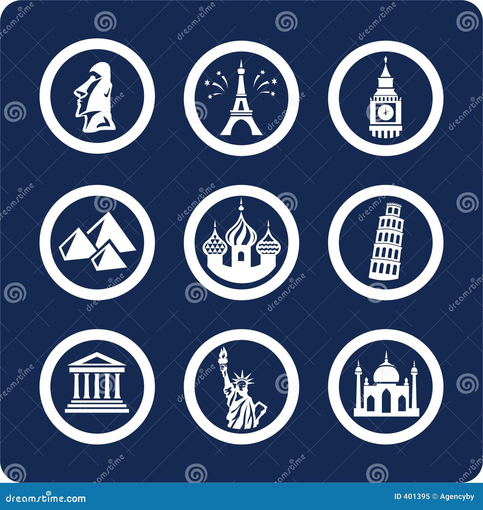 World Famous Places icons (set 7, part 1)