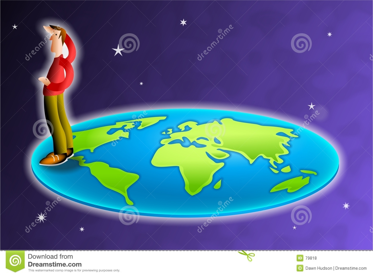The world is flat stock illustration illustration of globe 79818 the world is flat gumiabroncs Choice Image
