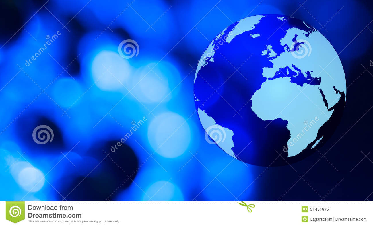 World futuristic network blue background