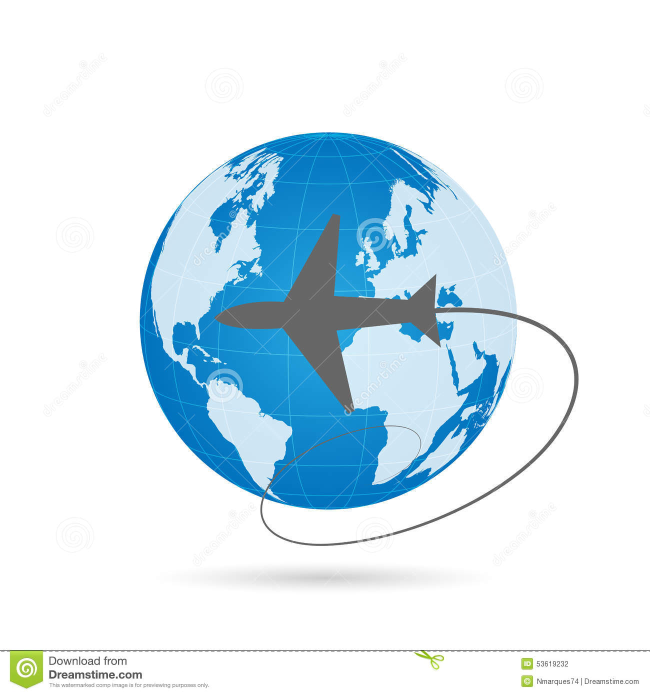 stock vector traveling world airplane isolated object white background lettering