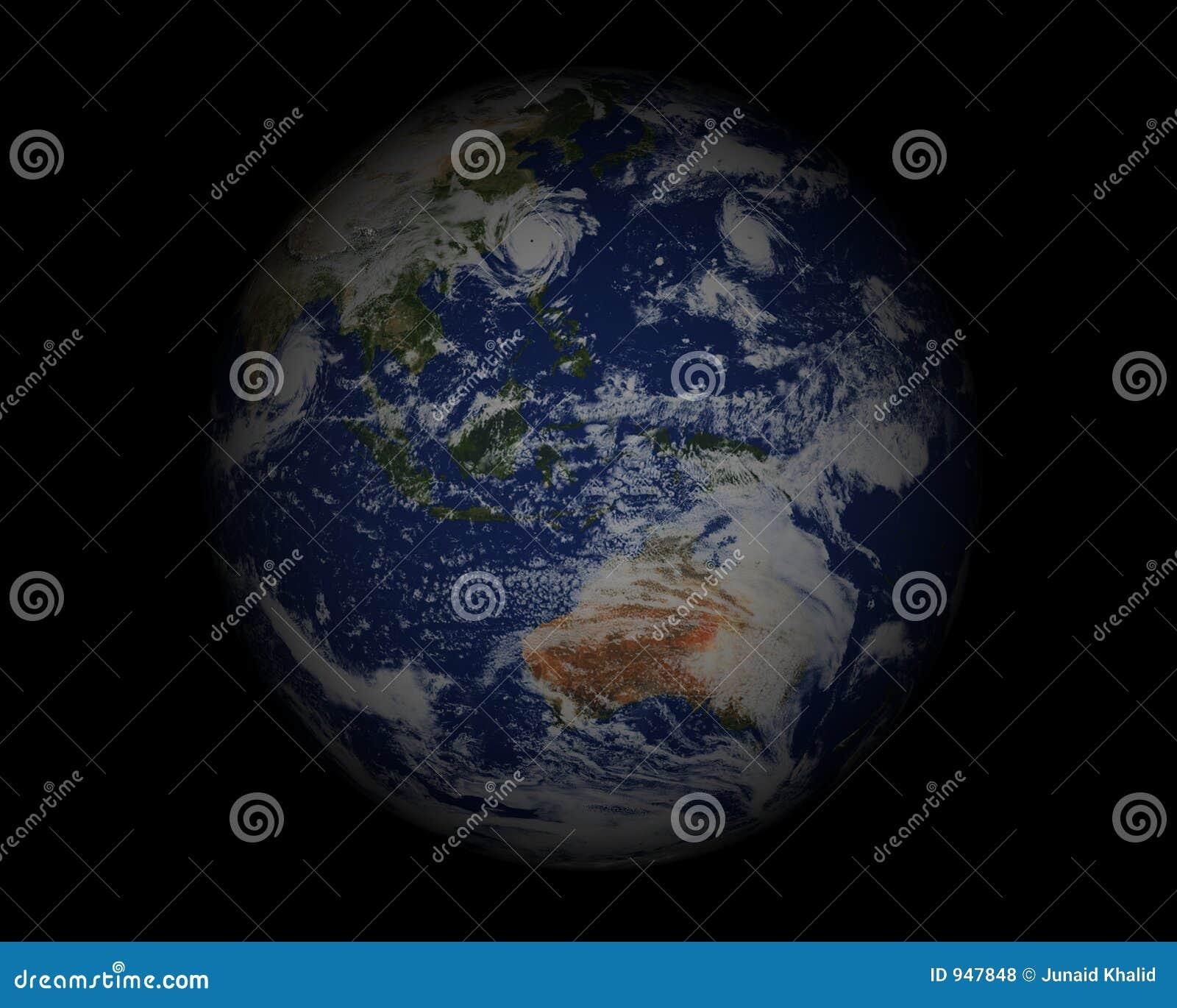 World Globe on black003