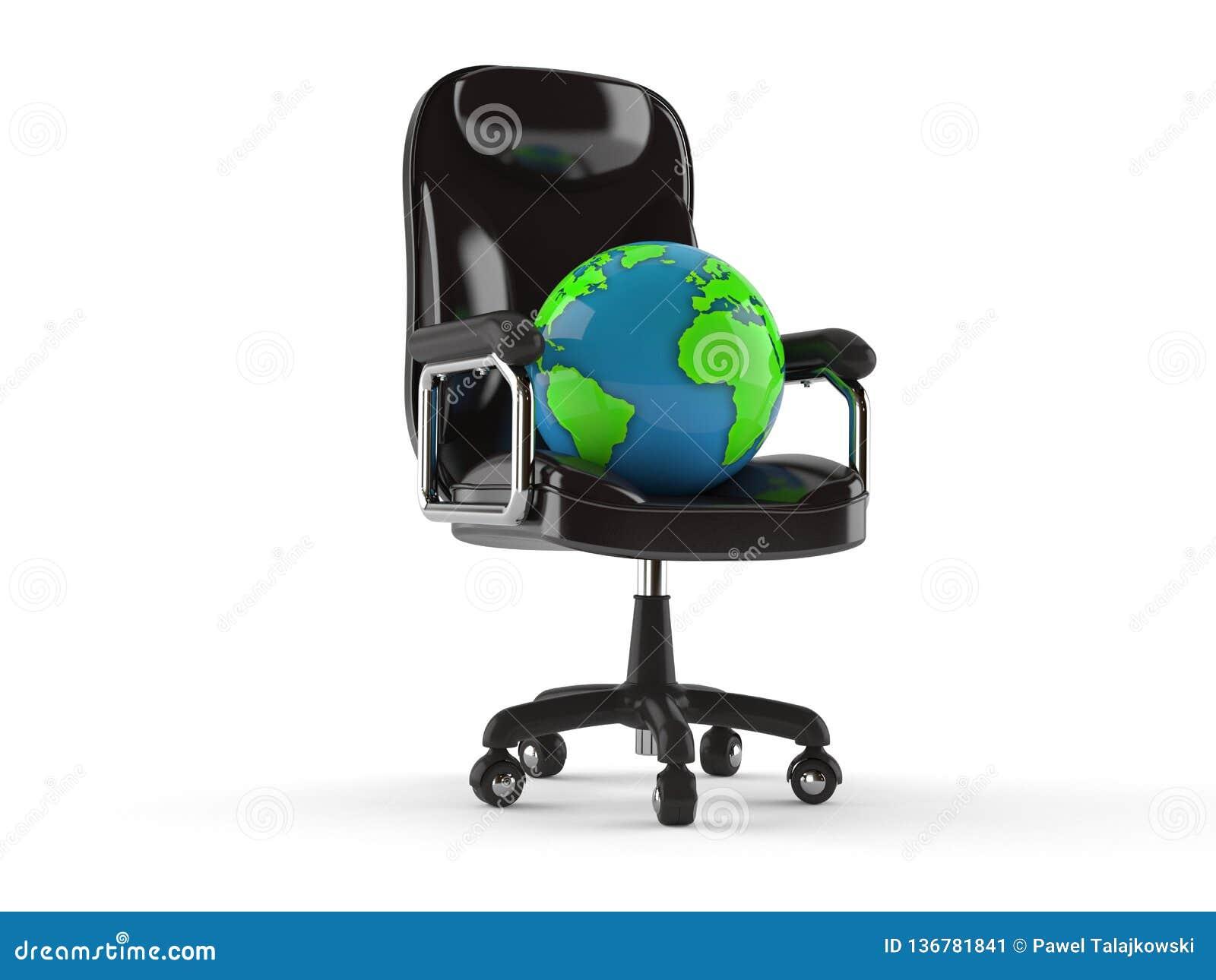 Cool World Globe On Business Chair Stock Illustration Inzonedesignstudio Interior Chair Design Inzonedesignstudiocom