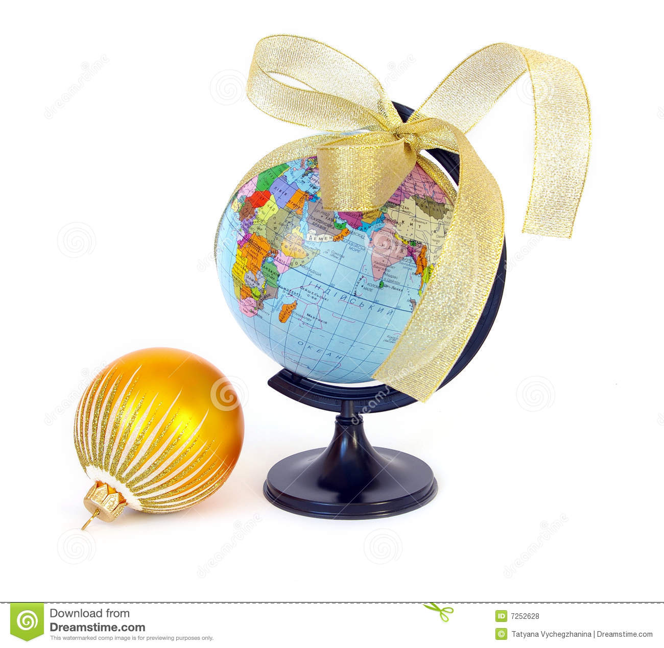 World globe christmas ornaments - World Globe And Christmas Sphere