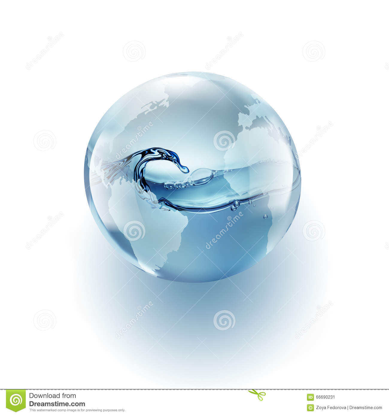 World Globe With Clean Water Inside Stock Illustration ...