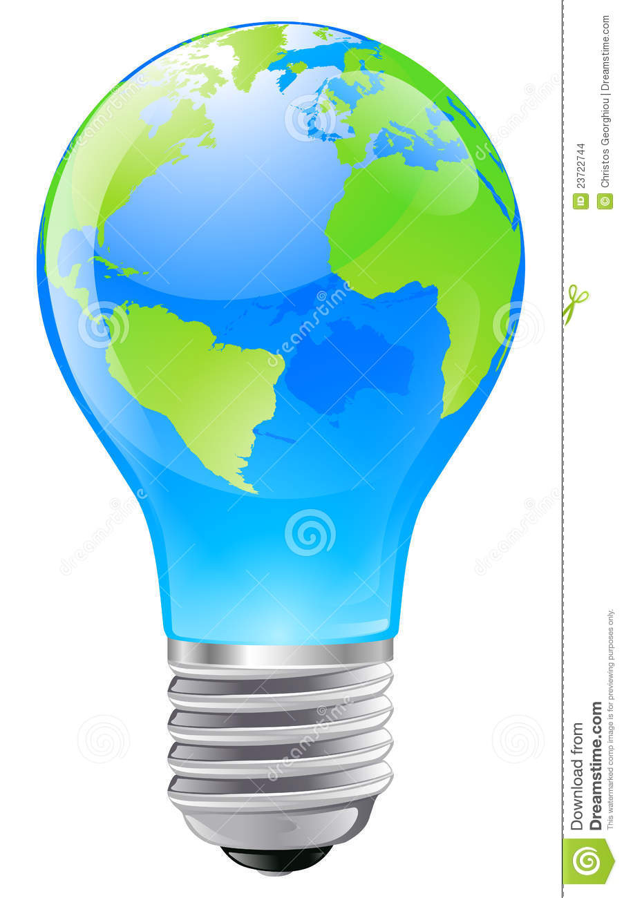World Globe Light Bulb Concept Stock Vector Image 23722744