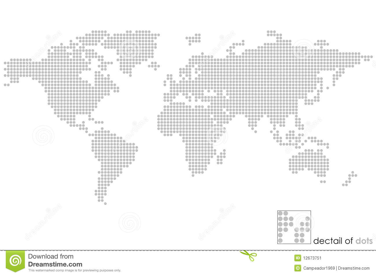 World dot map world globe map dotted puzzle stock illustration illustration gumiabroncs Choice Image