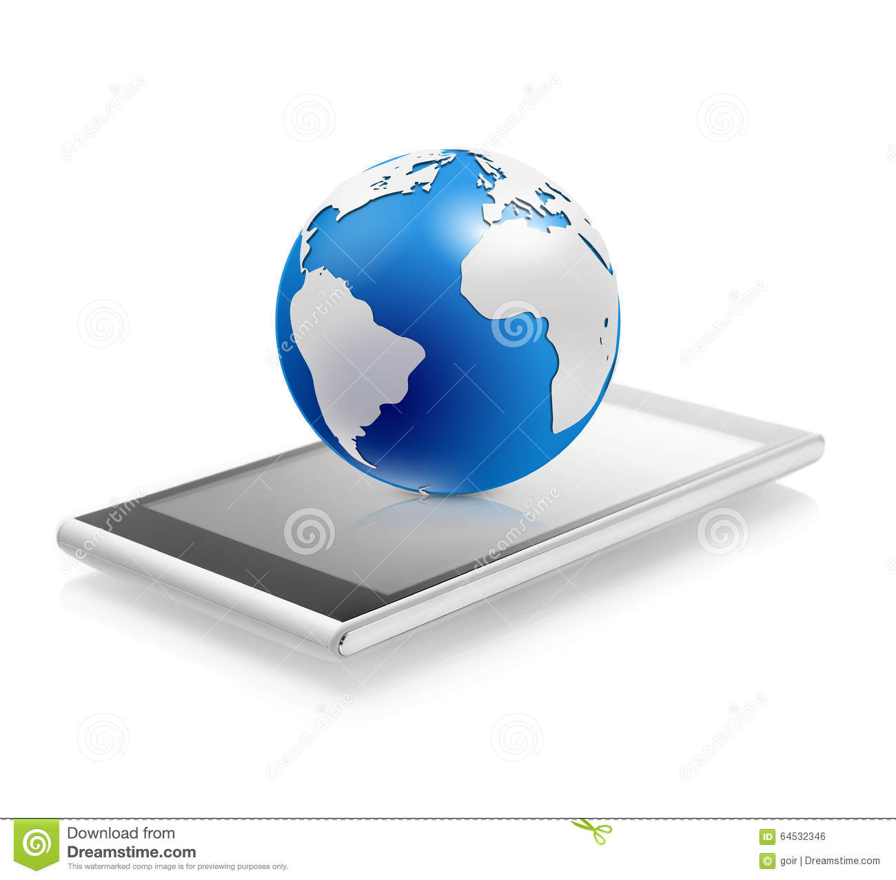 World globe on a mobile phone stock illustration illustration of world globe on a mobile phone royalty free illustration gumiabroncs Gallery