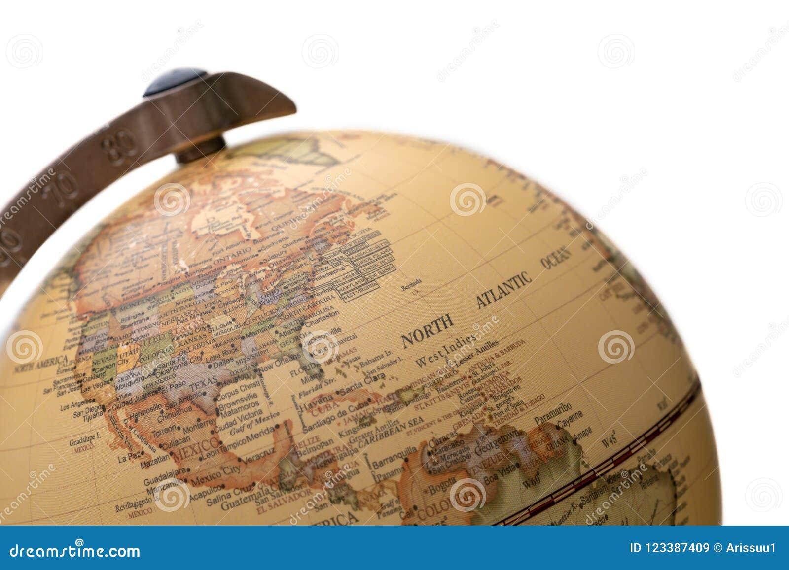 Spherical World Map.World Globe Orb Spherical Model Stock Image Image Of Country Blue