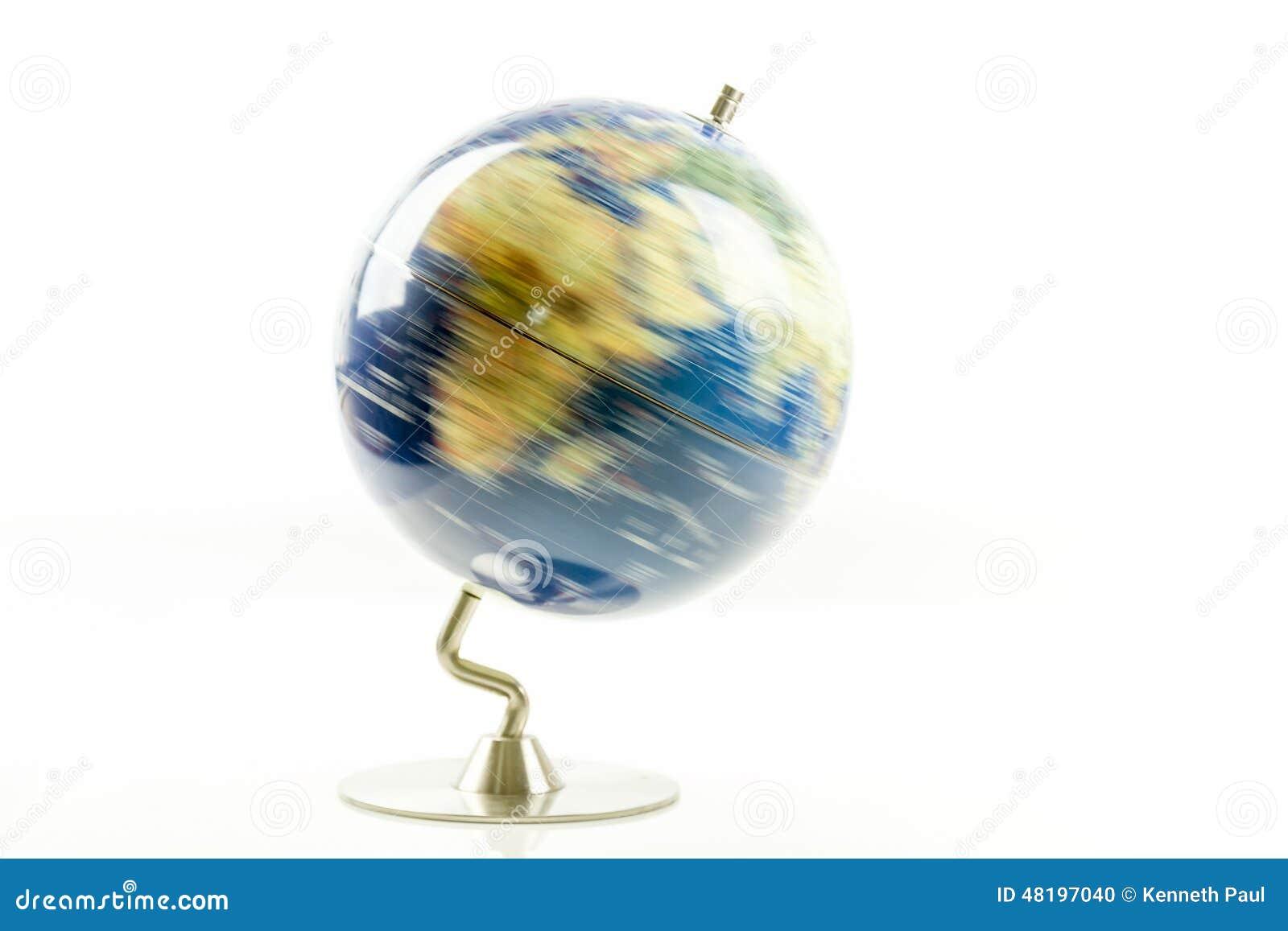 world globe spinning stock photo image of ball blur 48197040