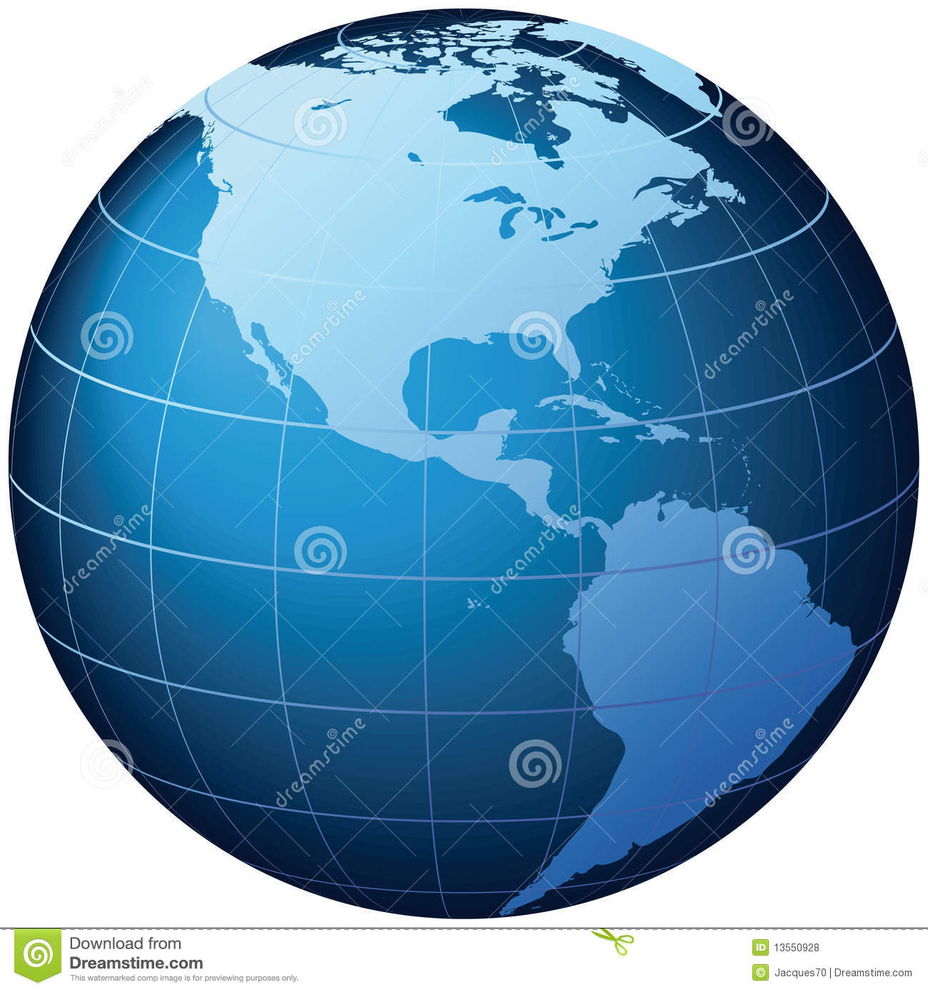 Map Of The World Globe View.World Globe Usa View Vector Stock Vector Illustration Of
