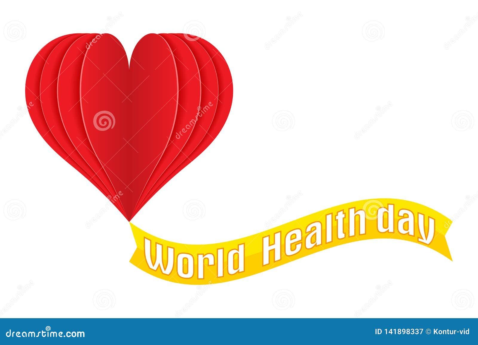 World Health Day Logo Text Banner Vector Illustration ...