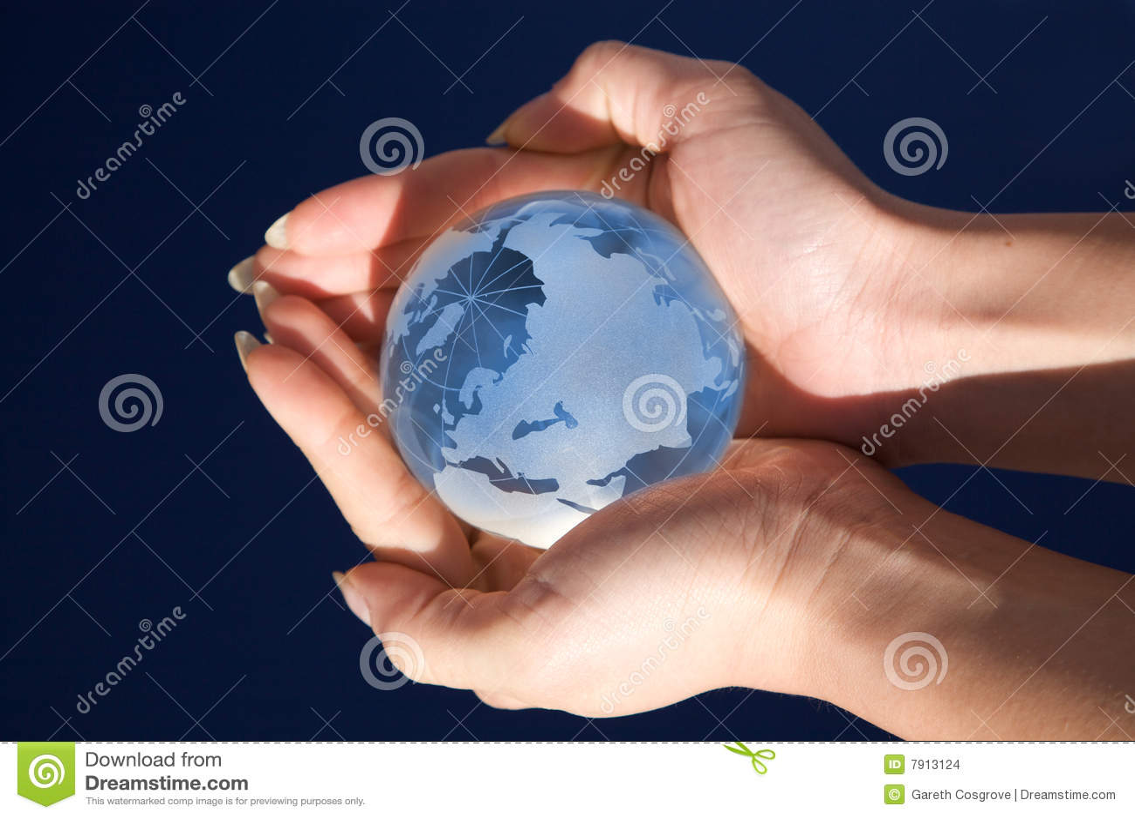 World in her hands