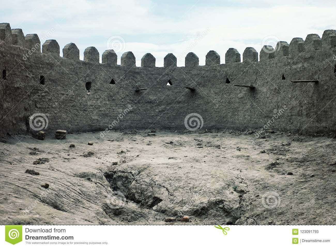 World heritage unesco site of the famous mud brick clay walls of the ancient silk road gateway ci