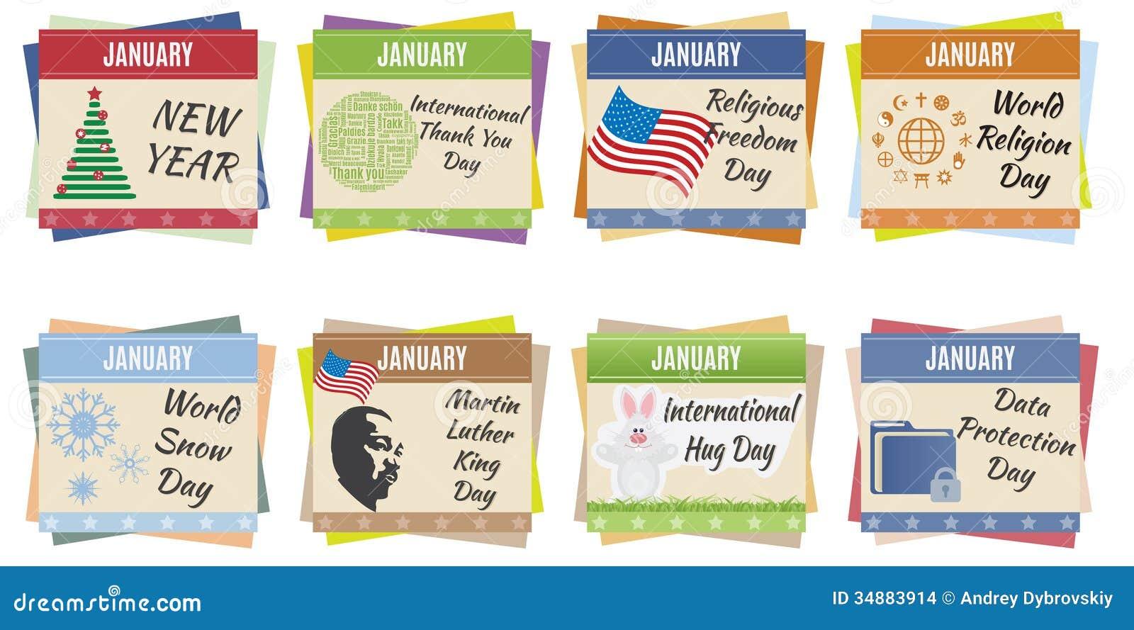 World Holidays. January Stock Images - Image: 34883914