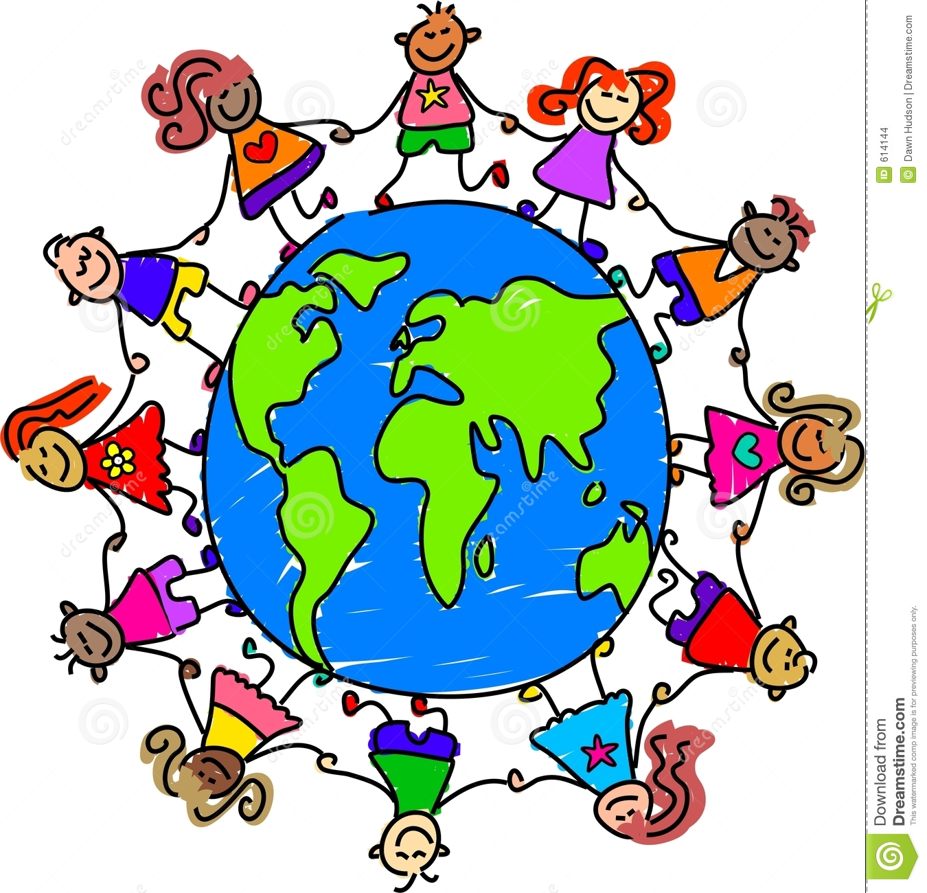 Diverse Children Holding Hands Clipart Happy and diverse kids holding