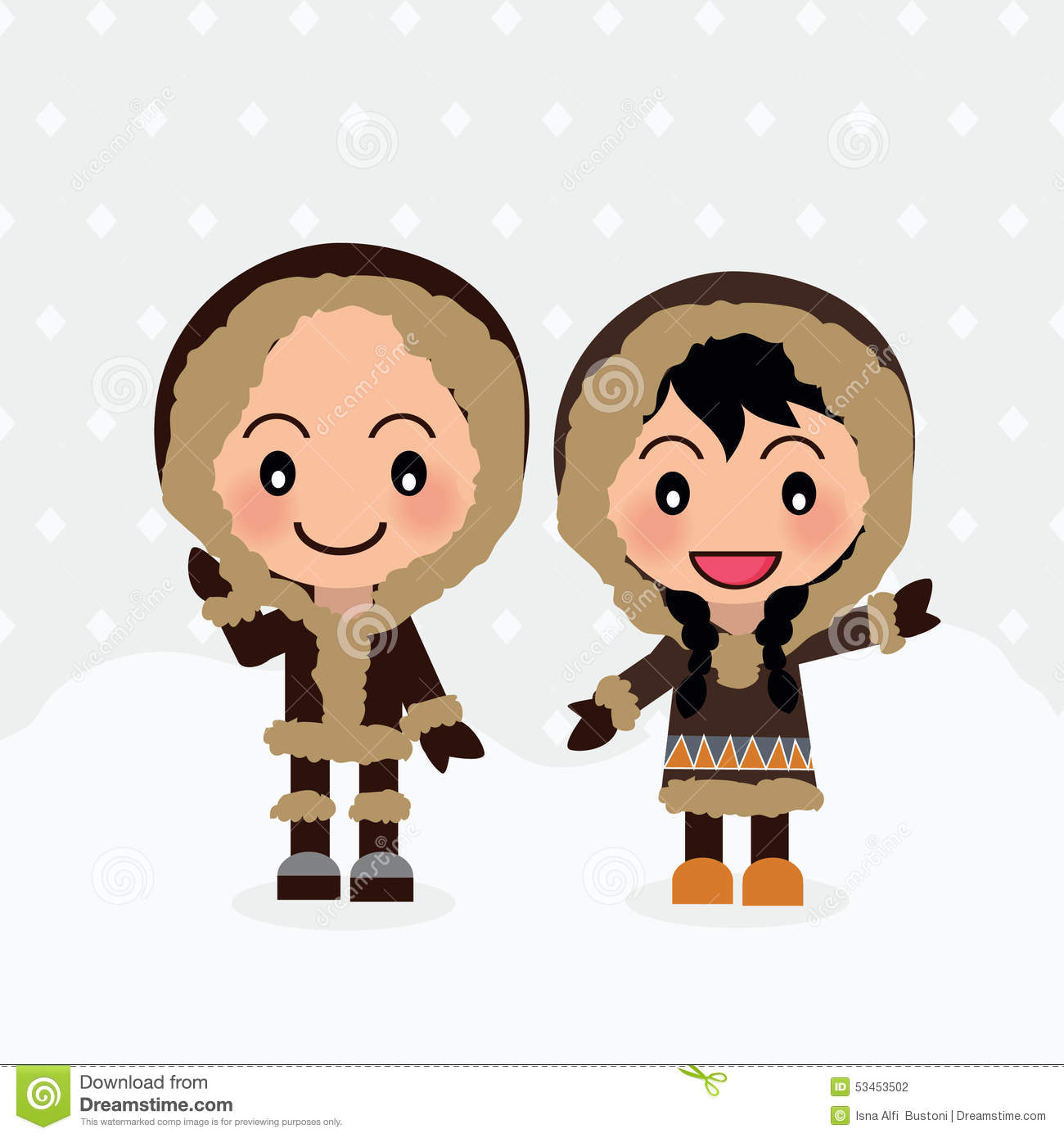 world kids from eskimo stock vector image of couple