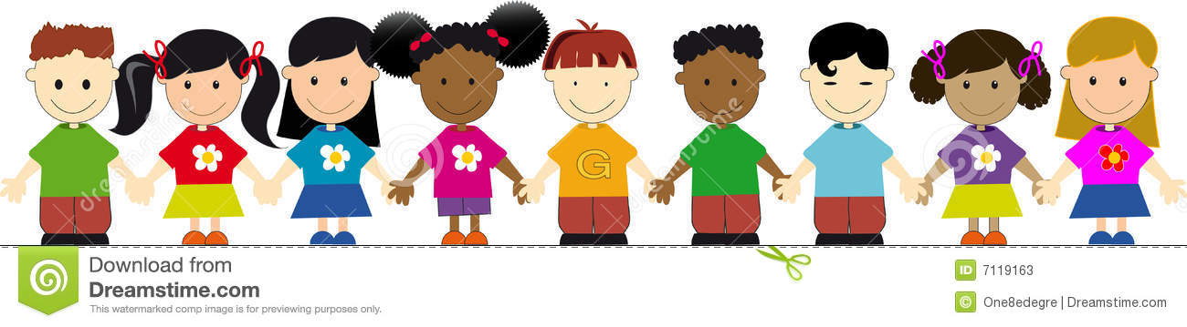 World Kids In A Line Stock Photos - Image: 7119163